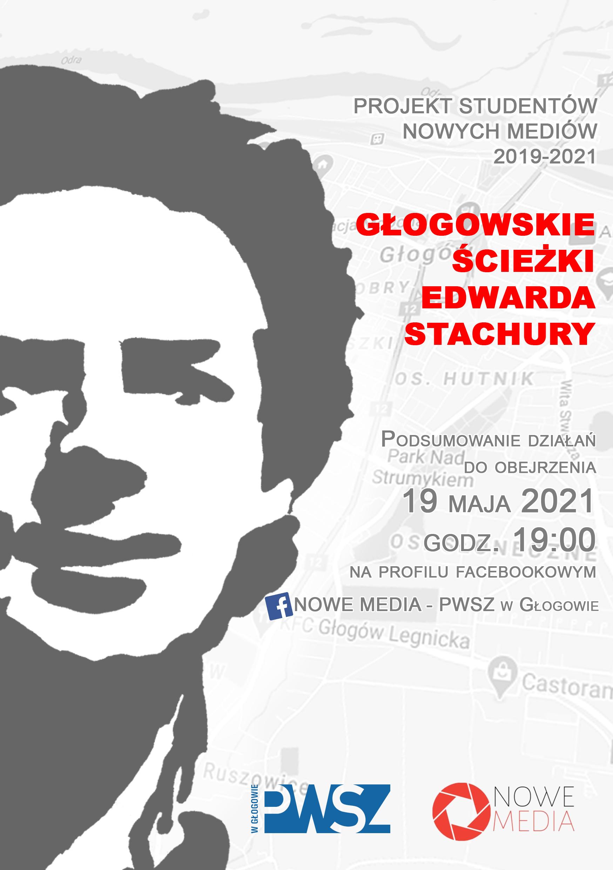 Plakat Głogowskie ścieżki Edwarda Stachury